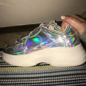 Target Shoes - Holographic Wild Fable Target brand Tennis Shoes